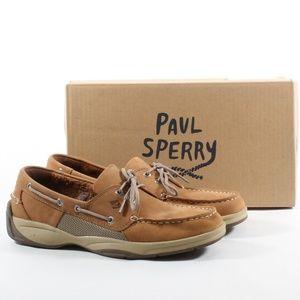 Men's Sperry Intrepid 2 Eye Boat Room Shoes Tan 11